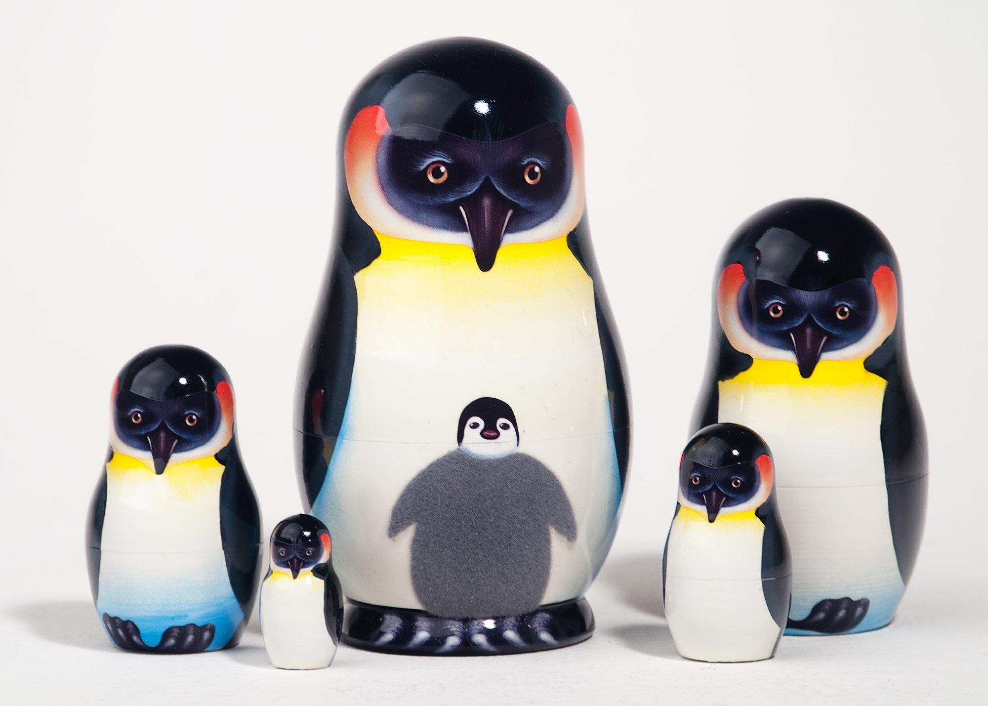 Emperor Penguin Nesting Doll 5pc./5''