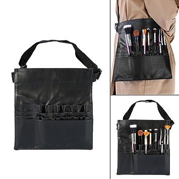 23164a538844 Amazon.com : Makeup Brush Bag, Adjustable Soft PU Leather 22 Pockets ...