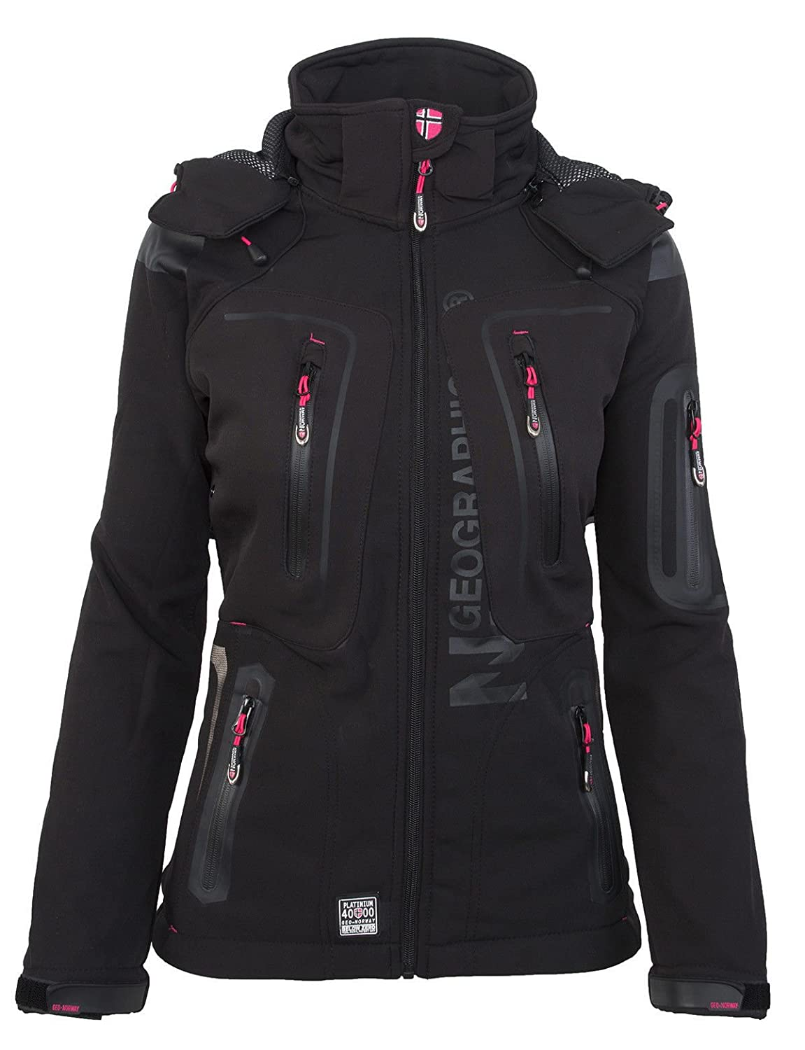 Geographical Norway - Chaqueta multifunción softshell impermeable para mujer negro M