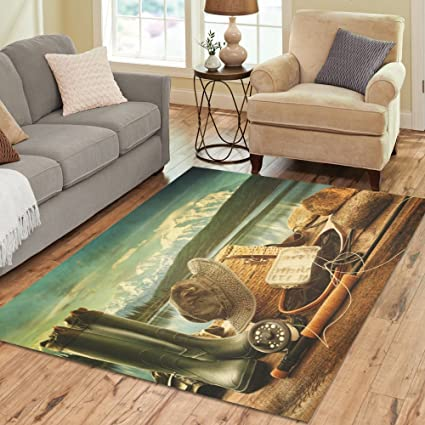 Amazon Com Interestprint Retro Western Cowboy Boots Area Rug Carpet