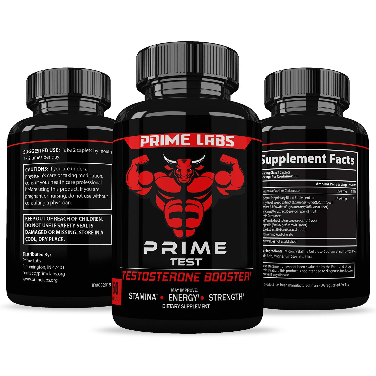 f8291f9f Amazon.com: Prime Labs - Men's Test Booster - Natural Stamina, Endurance  and Strength Booster - 60 Caplets: Health & Personal Care