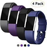 Vitty Fitbit Charge 2 Strap for Women and Men, Charge 2 Bands Adjustable Replacement Silicone Sport Wristband for Fitbit Charge 2
