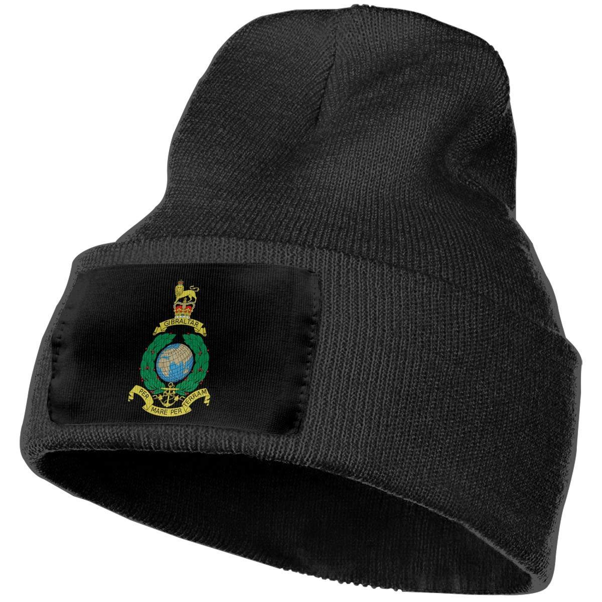 Unisex 3D Knitted Hat Skull Hat Beanie Cap Royal Marines