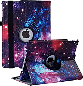 Hsxfl iPad 9.7 inch 2018 2017/ iPad Air 2 Case - 360 Degree Rotating Stand Smart Cover Case with Auto Sleep Wake for Apple iPad 9.7