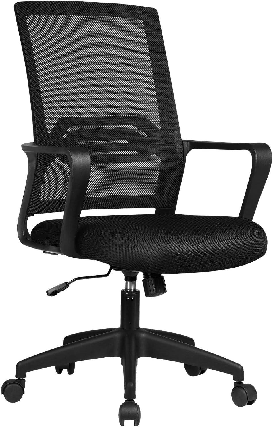 comhoma,オフィスチェア,黒の椅子,デスクチェア,メッシュ生地,ロッキング