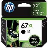 Original HP 67XL Black High-yield Ink Cartridge | Works with HP DeskJet 1255, 2700, 4100 Series, HP ENVY 6000, 6400 Series |