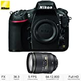 Nikon D810 36.3MP 1080p FX-Format DSLR Camera (Body Only) + 24-120mm f/4G ED VR AF-S NIKKOR Lens for Nikon DSLRs - (Certified Refurbished)