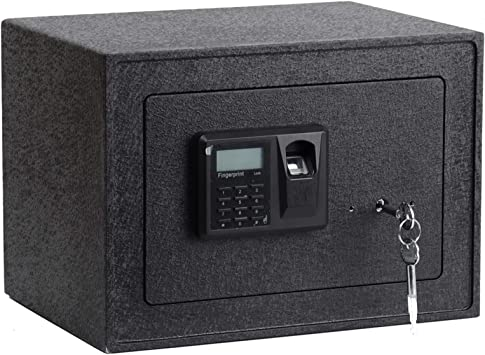 Amazon Com Luckyermore Biometric Safe Box With Fingerprint Access Solid Steel Security Lock Box For Wall Floor Or Cabinet Digital Safes 0 5 Cubic Feet Office Products