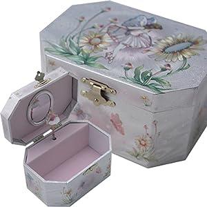 GTP Fairy Ballerina Jewelry Music Box-Wooden Material (Wood)