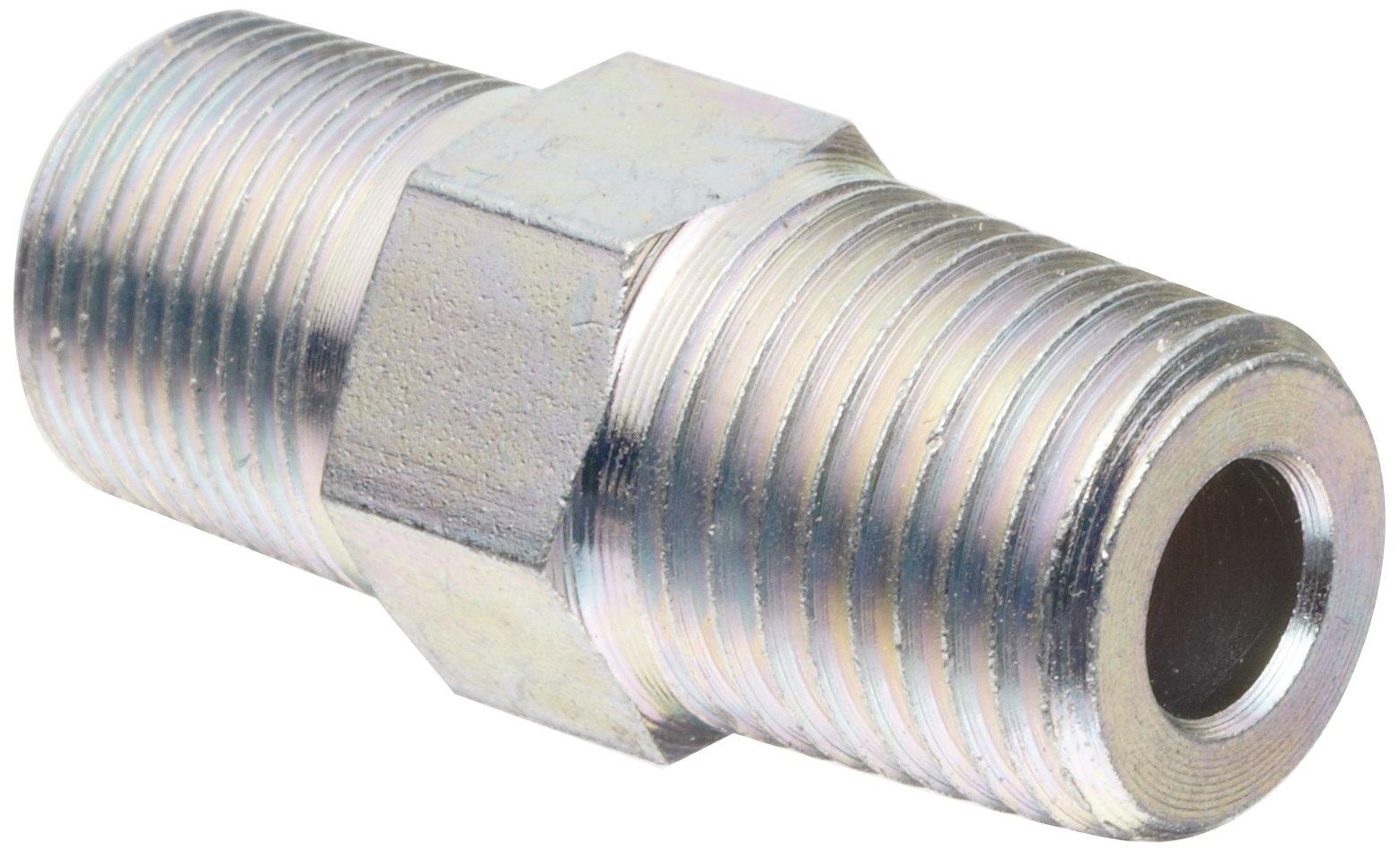 Alemite 43379 Heavy Duty/High Pressure Adapter, Straight, 1/2''-27 Taper Male x 1/4'' Male NPTF