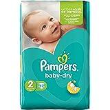 Pampers Baby Dry, 84 Pannolini, Taglia 2 (3-6 kg), 2 confezioni da 42