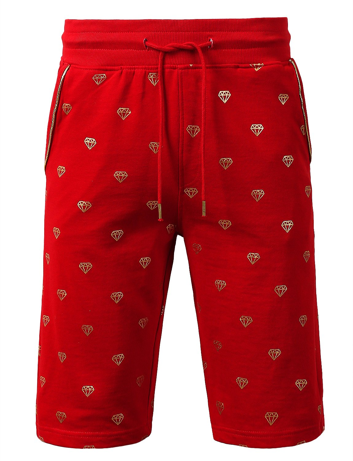 URBANCREWS SHORTS メンズ B07C84NP2Z Large Ambs055_red Ambs055_red Large