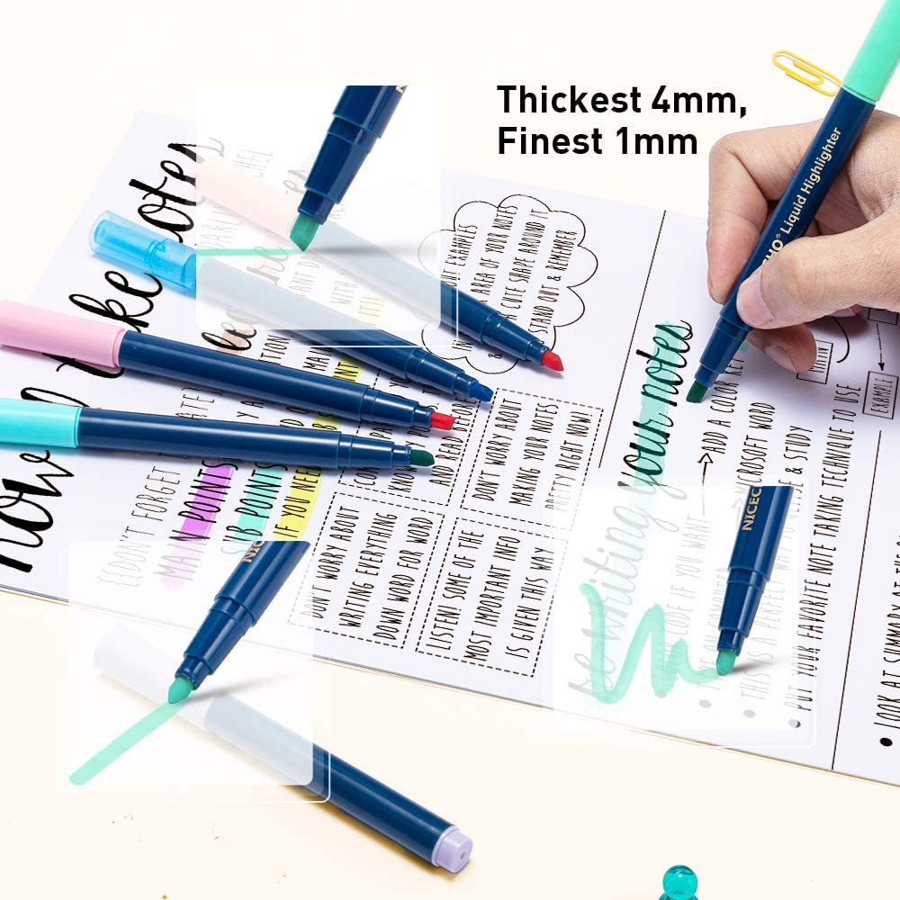 Highlighters, Pack of 24, Chisel Tip Highlighter Markers, Assorted Colors Bible Highlighter Pen for Home, School, Office (12 Pastel & 12 Fluorescent) : Office Products