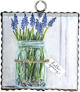 The Round Top Collection - Gallery Hello Spring Mason Jar Wall Art - Metal & Wood
