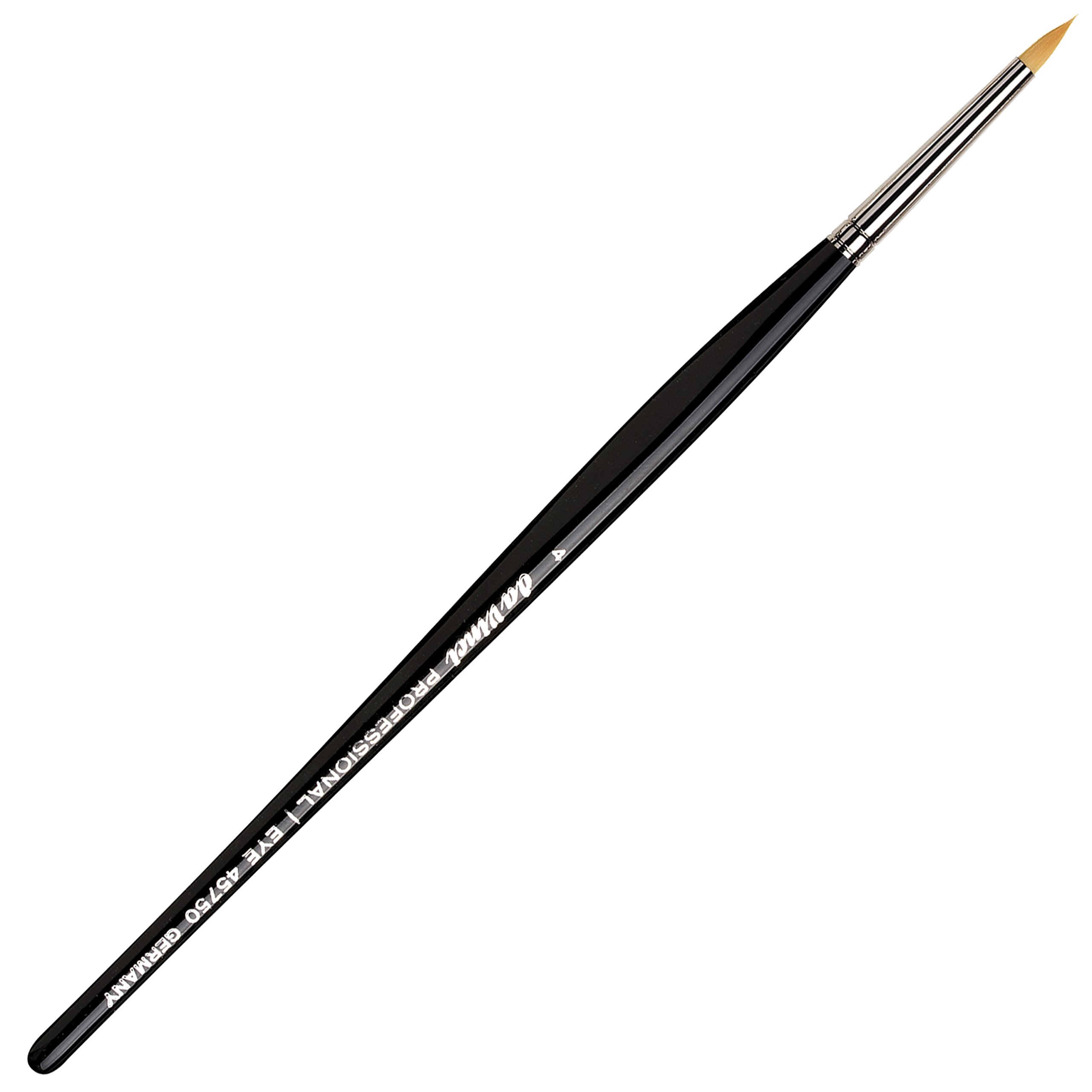 da Vinci Cosmetics Series 45750 Professional Eyeliner Brush, Pointed Round Synthetic, Size 4, 11.5 Gram