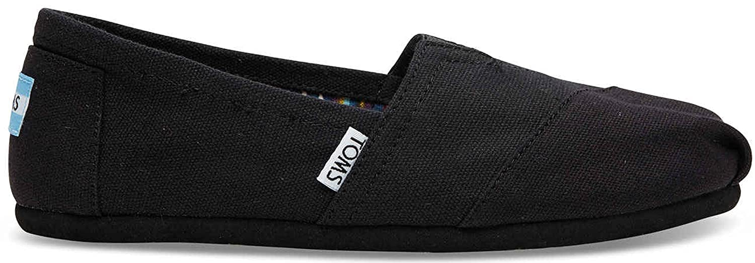 Amazon.com | TOMS Womens Canvas Slip-On, Black, 8.5 M | Loafers & Slip-Ons