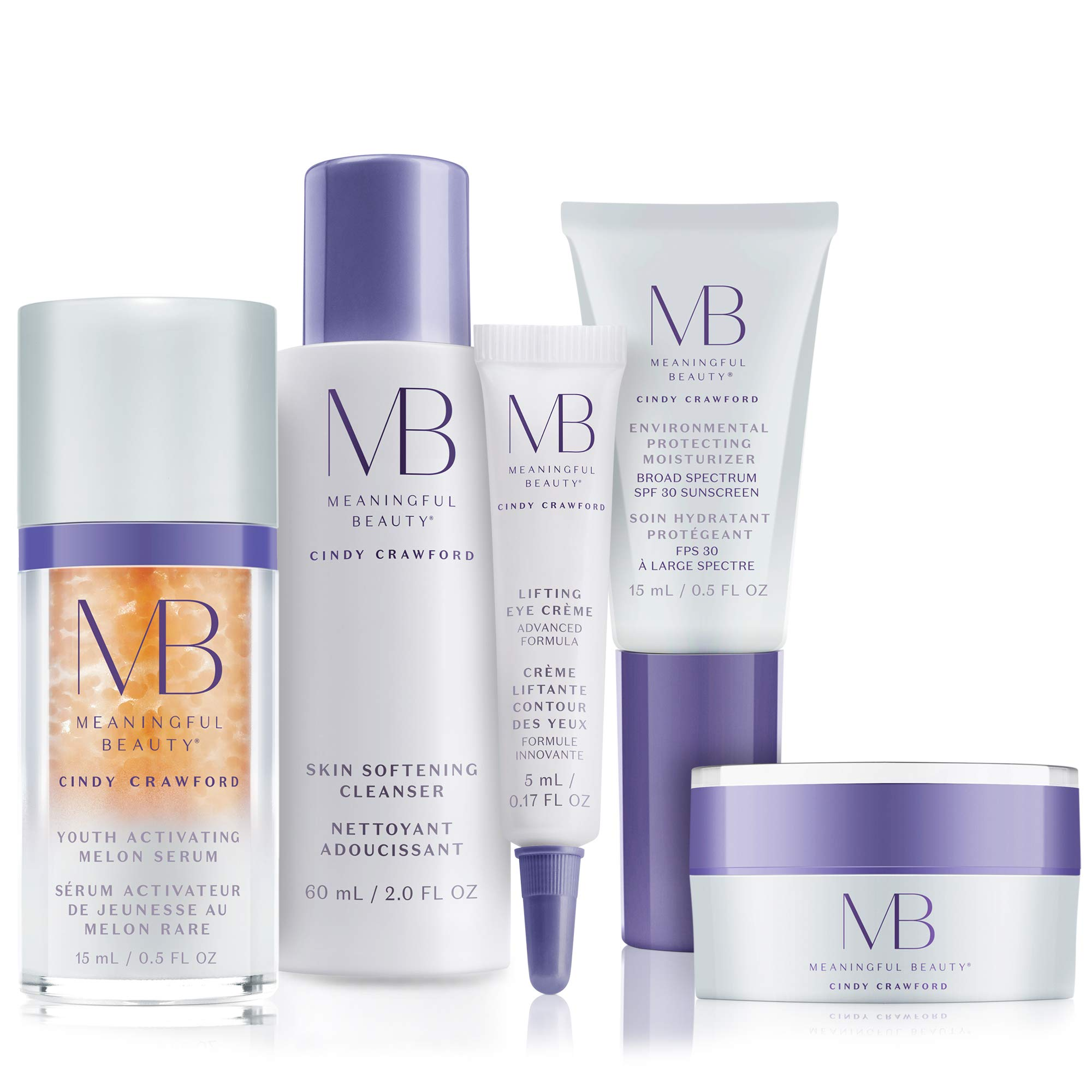 Meaningful Beauty - 5-Piece Anti-Aging Starter System - For Lifting, Firming, Fine lines & Wrinkles by Meaningful Beauty