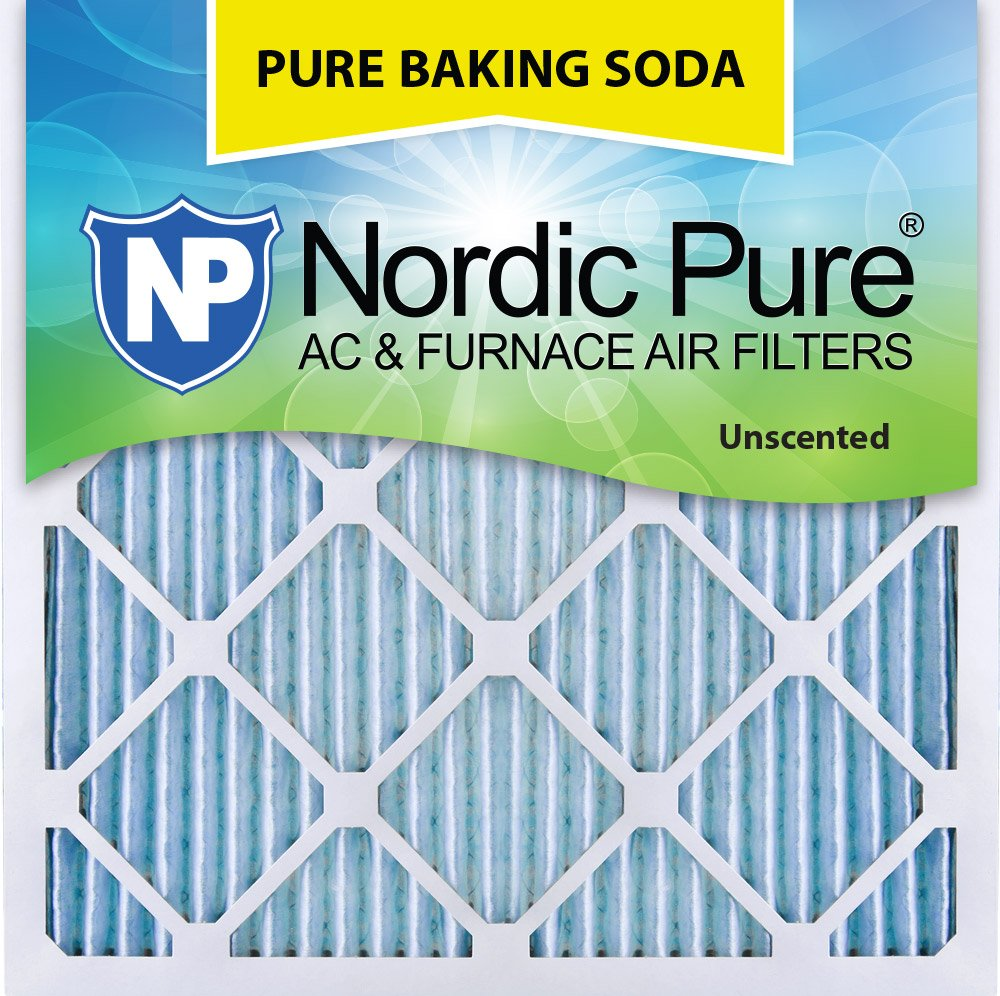 "Nordic Pure 25x25x1 Pure Baking Soda Odor Deodorizing AC Furnace Air Filters 25"" x 25"" x 1"" 3 Pack"