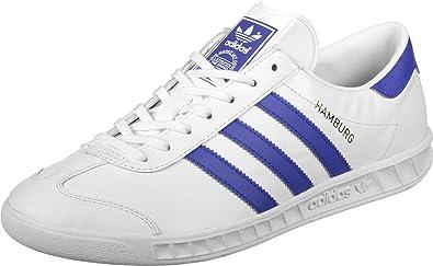 adidas Herren Hamburg Low-Top, Weiß (Ftwbla/Azufue/Dormet),