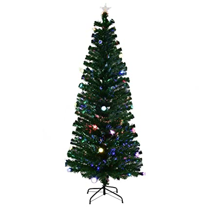 cirocco 7 ft large prelit artificial pine tree w stand multi color led light - Heavy Metal Christmas Decorations
