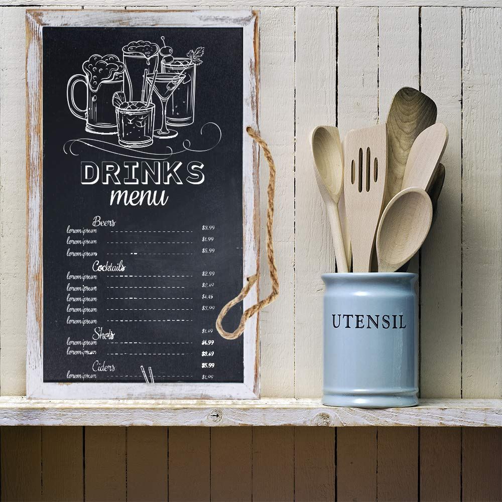 3 Pcs 3 Size Hanging Chalkboard Signs Rustic FramedVintage Decorative Wooden Chalkboard Signs Farmhouse Wedding Door Chalkboard Signs Menu Memo Board WallBlackboard for Back to School Birthday Party by windiy (Image #4)