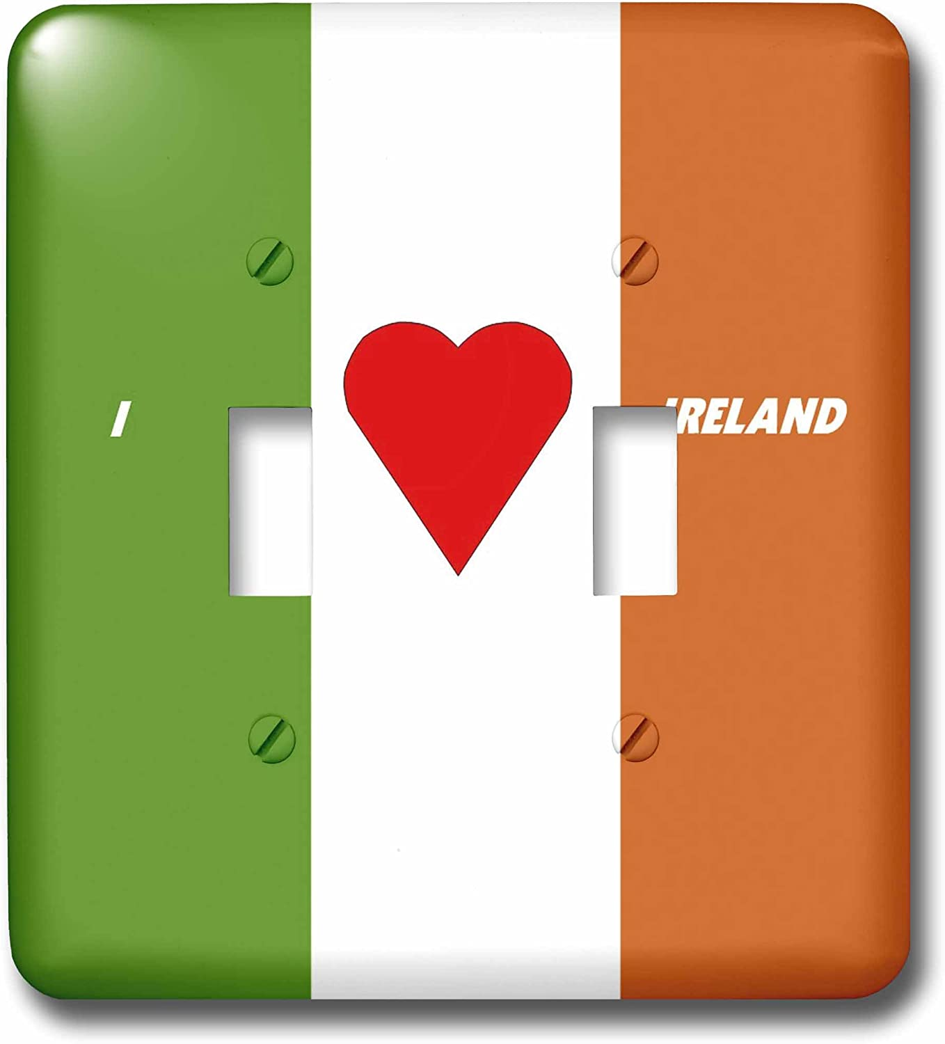3dRose lsp/_51531/_2I Love Ireland-Double Toggle Switch