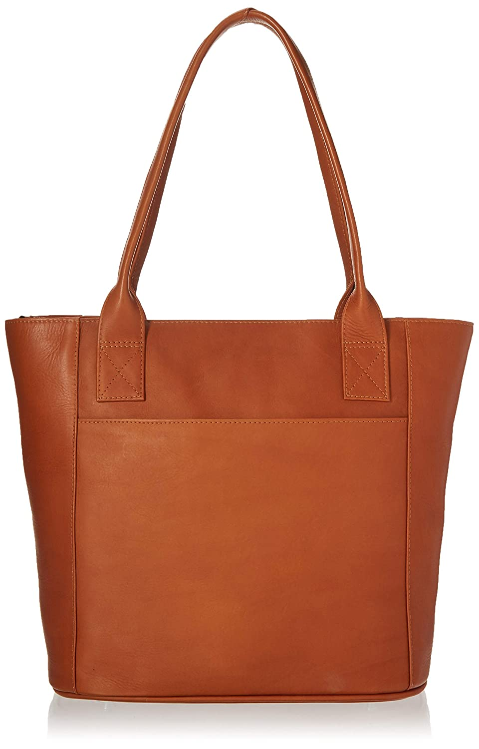 Piel Leather Small Tote Bag, Saddle