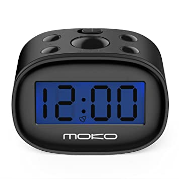 MoKo LED Digital Despertador, Alta Precisión Mini Pantalla LCD Reloj para Niños Night Light Travel