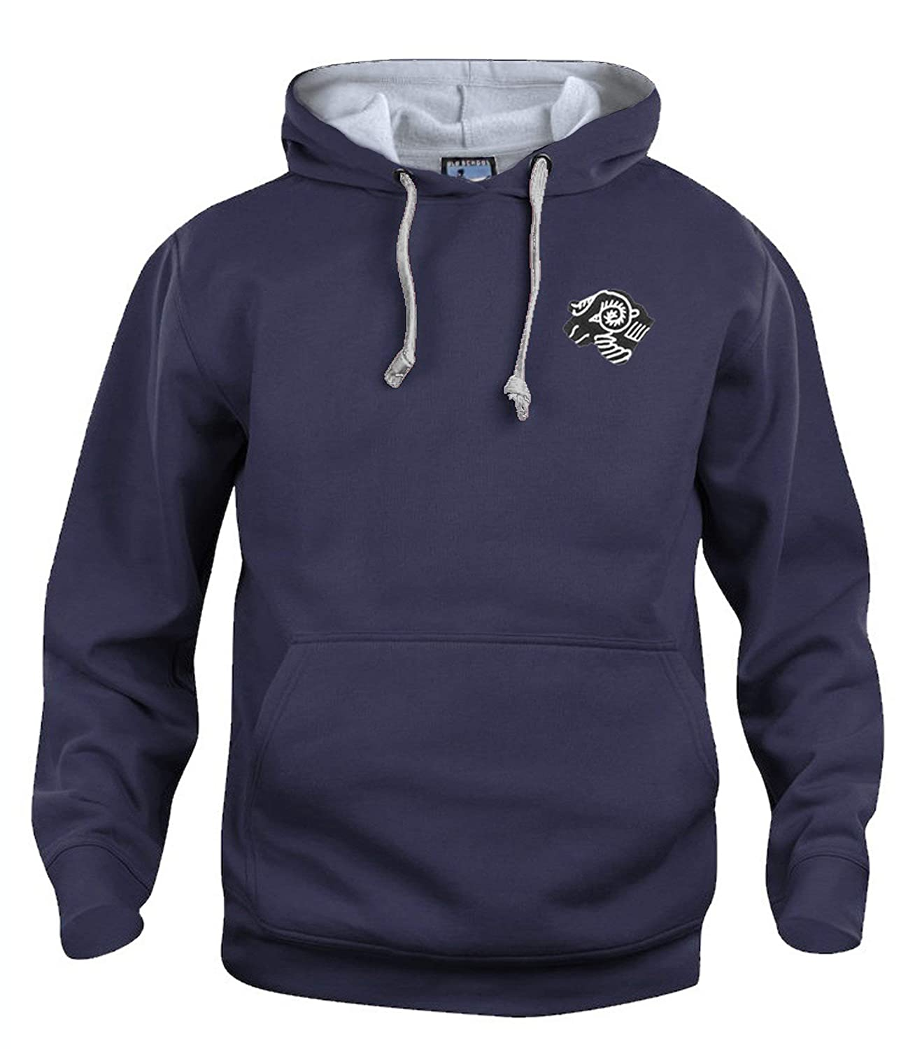 Derby County 1970s Football Hoodie Sizes S-XXXL Embroidered Logo