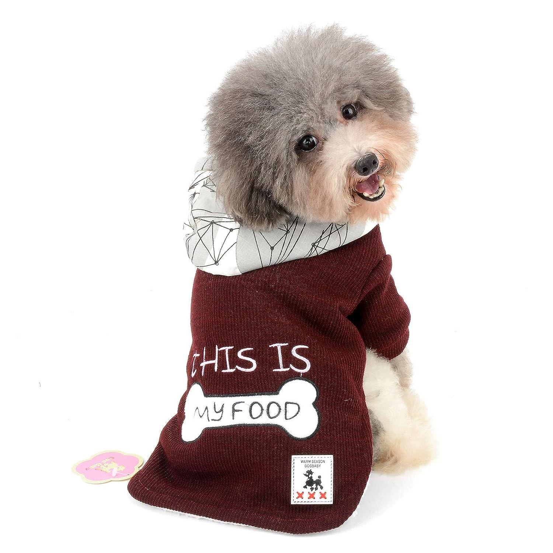 Ranphy Piccolo Cane Maglione Cappotto Pet, Foderato in Pile Abiti Bone Stampa Cold Weather Giacca Calda Gatto Costumi da Bambina