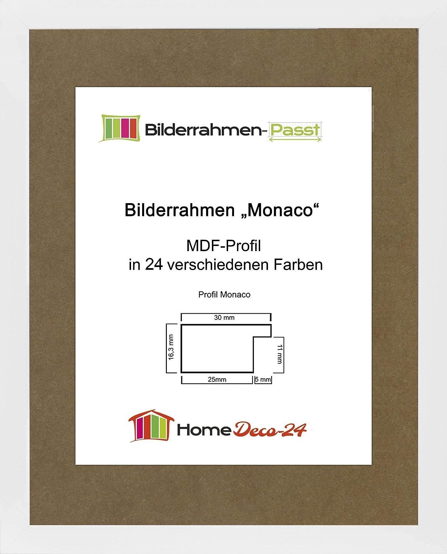Monaco MDF Bilderrahmen ohne Rundungen 50 x 35 cm Größe wählbar 35 x ...