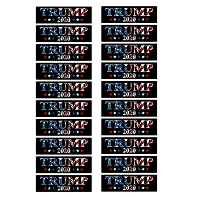 Amosfun 20pcs Car Sticker 2020 Trump Decorative US President Decal Car Sticker Automobile Decor: Baby