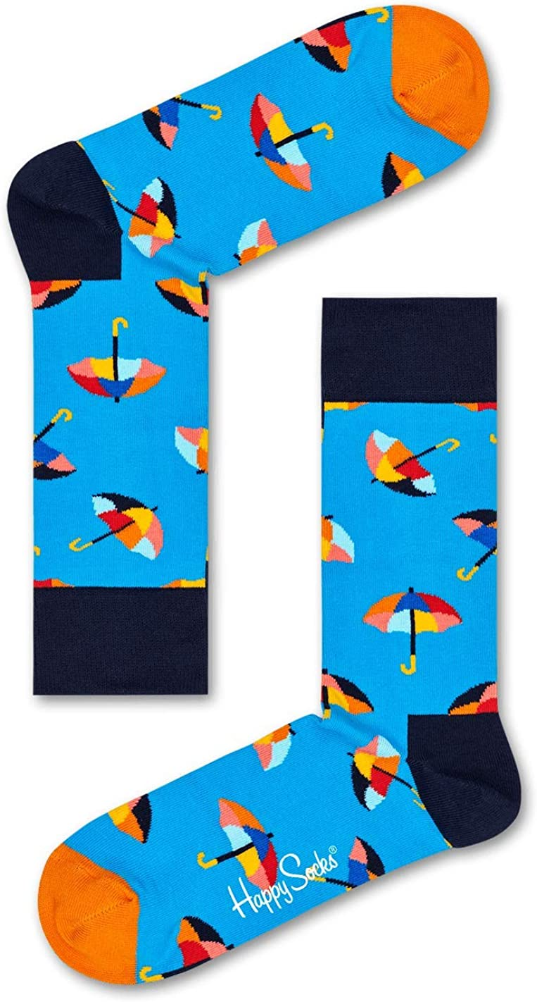 Happy Socks, Exclusive Colorful Premium Cotton Sock Gift Box for Men and Women (Pack of 4) After Rain Comes Sun