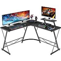 Aingoo Hoek Computer Bureau L-vormige Home Office Bureau Bureau Schrijven Werkstation met Grote Monitor Stand Grote PC…