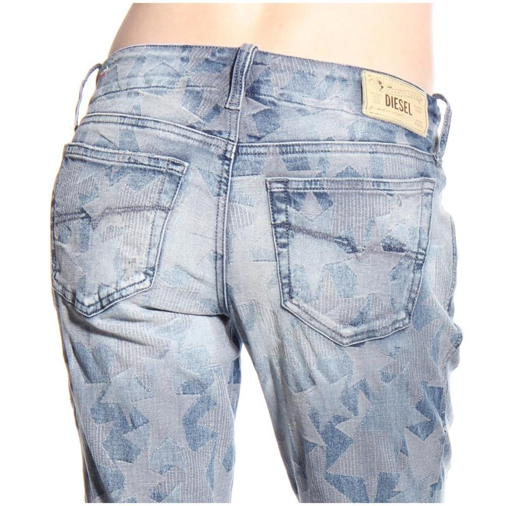 Diesel Women's Grupee-Zip Super Slim Skinny Leg Jean 0606M, Indigo, 28x32 by Diesel (Image #7)