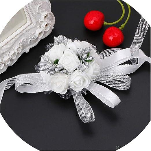 Beautiful Wrist Corsage Bracelet Bridesmaids Sisters Hand Flowers Wedding Party