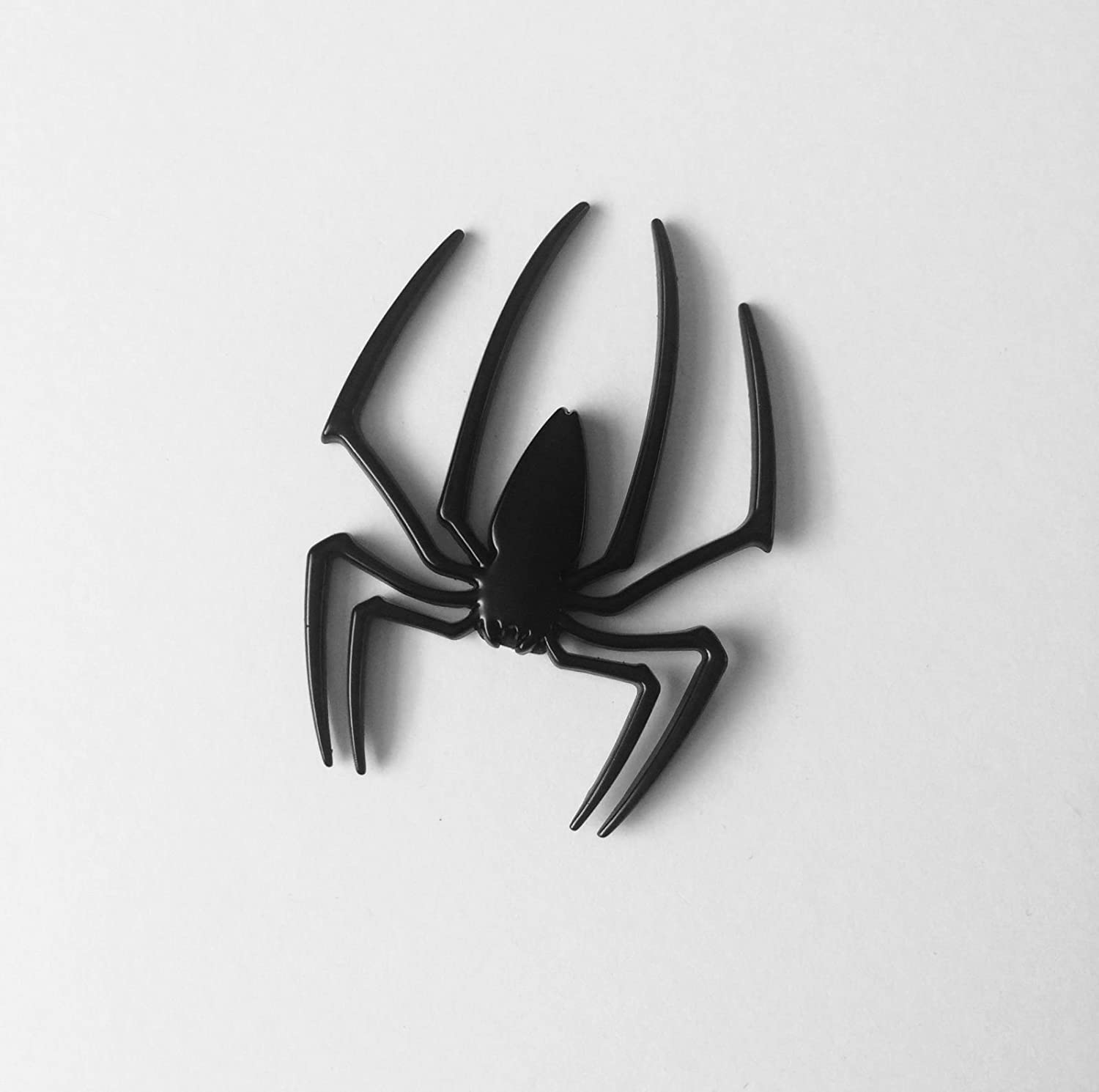 SKS Distribution/® 3D Spider Matte Black Car Decal Sticker Truck Motor Metal New Cute Shape Emblem Stainless Car Styling Accessories