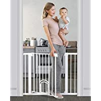 """Cumbor 40.6""""Auto Close Safety Baby Gate with Arch Cat Door, Extra Wide Durability Pet Gate for…"""