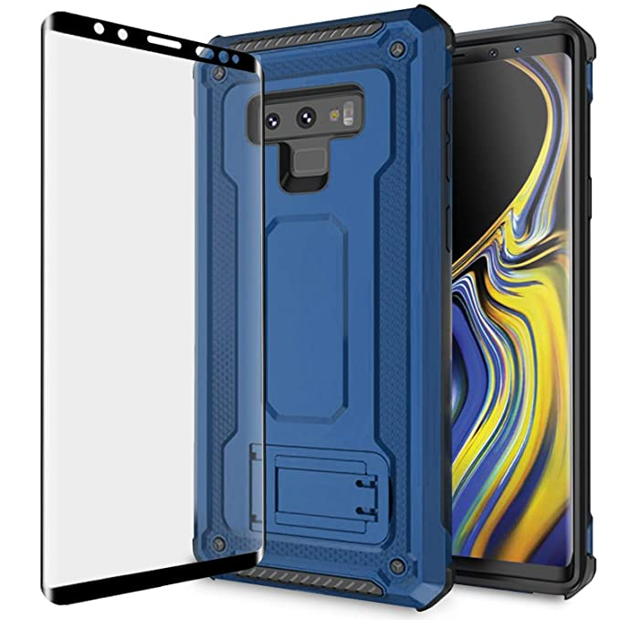 Olixar Samsung Galaxy Note 9 Tough Case with Screen Protector - Case Compatible Tempered Glass -