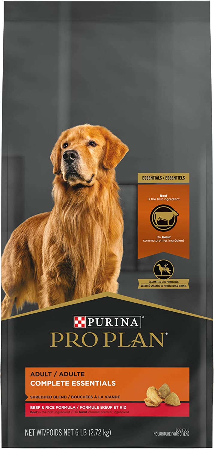 Purina Pro Plan With Probiotics, High Protein Dry Dog Food, Shredded Blend Beef & Rice Formula - 6 lb. Bag