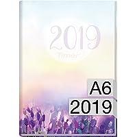 Chäff-Timer mini A6 Kalender 2019 [Flieder] 12 Monate Jan-Dez 2019 - Terminkalender mit Wochenplaner - Organizer – Wochenkalender