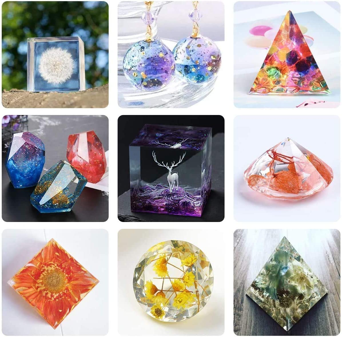 Soap Candles Making Silicone Resin Molds DIY Stone Resin Casting Molds Irregular Candle Resin Mold Stone Shape Silicone Mold for Resin Epoxy