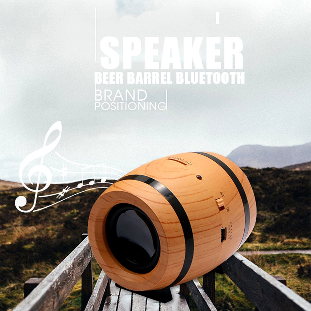 KINGEAR Double Horn Mini Portable Speaker Beer Bucket Creative Wireless Speaker with DSP Decoding MP3 and SBC Functions by KINGEAR (Image #6)