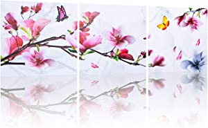 VARWANEO Bedroom Bathroom decor canvas Wall art artwork for art butterfly pictures wall decor canvas decorations for bedroom painting Living room home Deco Prints (UNFRAMED)
