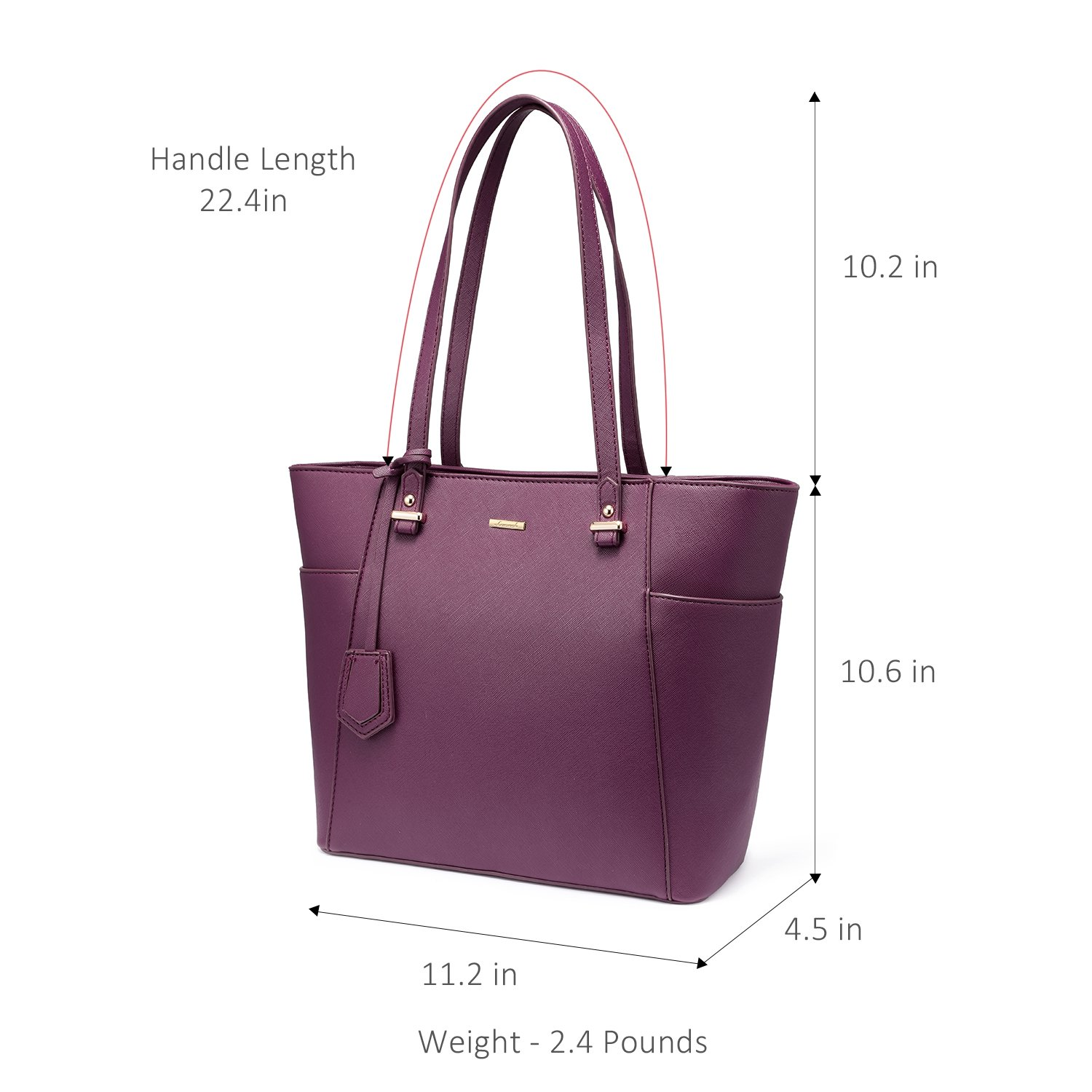 LOVEVOOK Women Purses and Handbags Chic Crossbody Bag Hobo 3pcs Large Capacity Purple by LOVEVOOK (Image #4)