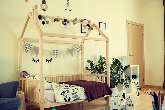 House Bed Kids Nursery Wooden Montessori