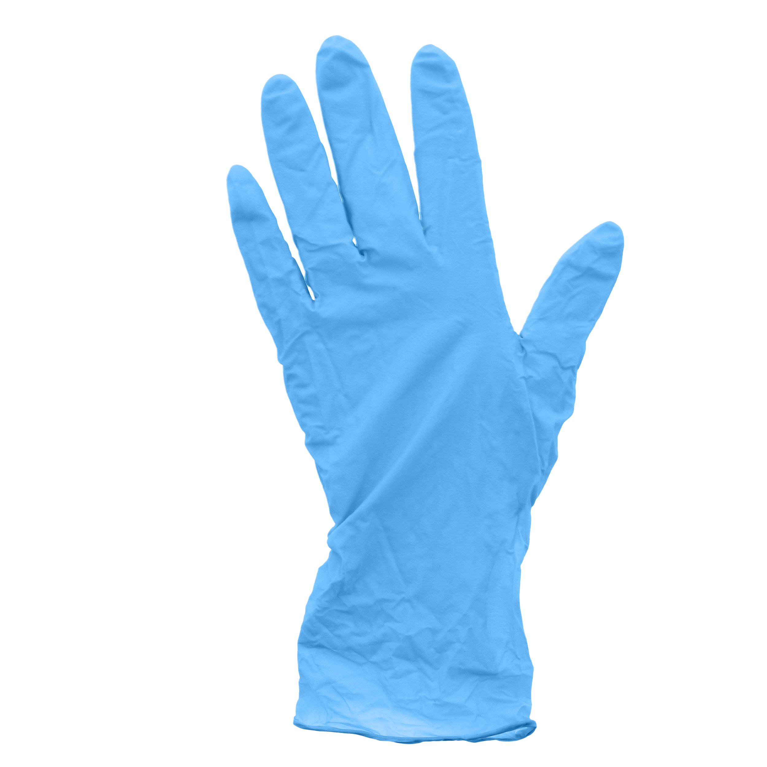 AmerCare 20992-C Pacific Blue Nitrile Gloves, Powder Free, Medium (Pack of 1000)