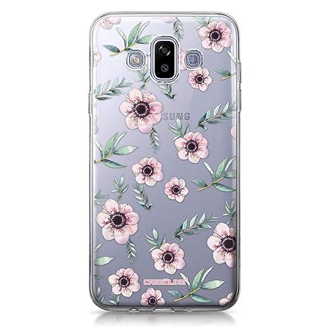 CASEiLIKE® Funda Samsung J7 Duo 2018, Carcasa Samsung Galaxy J7 Duo 2018, Floral Bohemio 2270, TPU Gel Silicone Protectora Cover