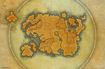 Close Up The Elder Scrolls Online Poster Map (86,5cm x 55 ...