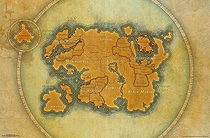 Close Up The Elder Scrolls Online Poster Map (86,5cm x 55 ...